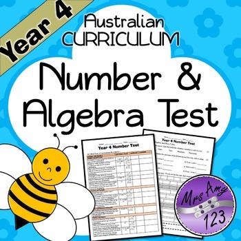 Year 4 ACARA Number Maths Test