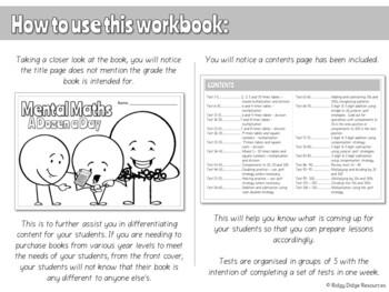 Year 4 Australian Curriculum Aligned Mental Maths Digital Workbook - FREE TRIAL