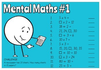 Year 4 Australian Curriculum Aligned Mental Maths PowerPoint - FREE TRIAL