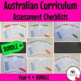 Year 4 Australian Curriculum Assessment Checklists BUNDLE