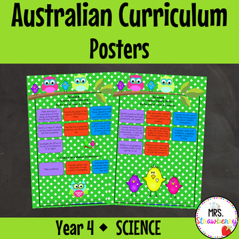 Year 4 Australian Curriculum Posters – Science
