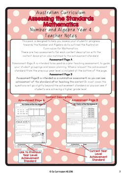 Year 4 Australian Curriculum Maths Assessment Part A Number and Place Value