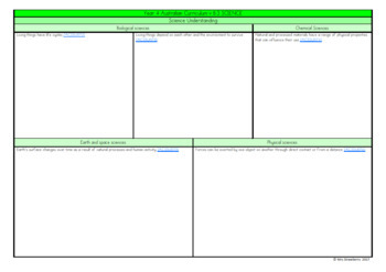 Year 4 Australian Curriculum Planning Templates: Science - EDITABLE
