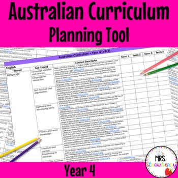 Year 4 Australian Curriculum Planning Tool