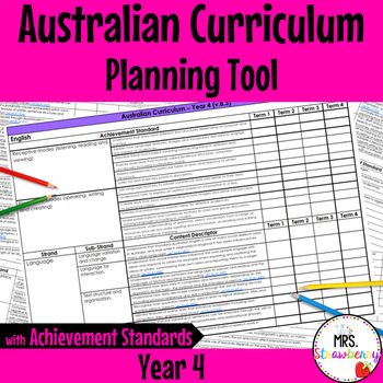 Year 4 Australian Curriculum Planning Tool – with Achievement Standards