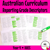Year 4 Australian Curriculum Reporting Grade Descriptors - HASS