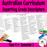 Year 4 Australian Curriculum Reporting Grade Descriptors: ENGLISH/ MATH – Sem 2