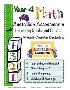Year 4 Australian Math Assessments with Marzano Scales