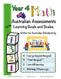 Year 4 Australian Math Assessments with Marzano Scales (St