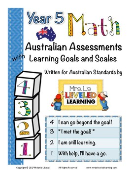 Year 4 Australian Math Assessments with Marzano Scales (Standards 1-3) -FREE!