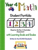 Year 4 Australian Math Student Portfolio with Marzano Scales