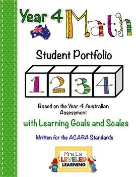 Year 4 Australian Math Student Portfolio with Marzano Scales