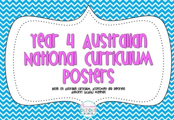 Year 4 Australian National Curriculum Posters