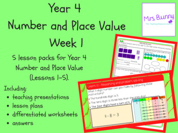 Year 4 Number and Place Value Week 1
