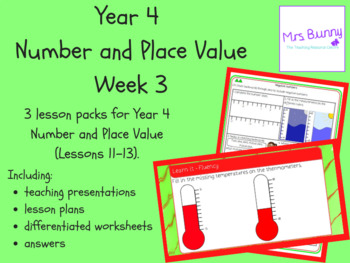 Year 4 Number and Place Value Week 3
