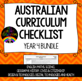 Year 4 BUNDLE - Australian Curriculum Checklists