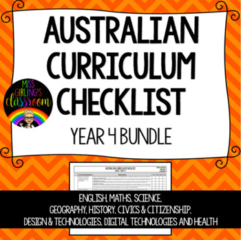 Year 4 BUNDLE - Australian Curriculum Checklists
