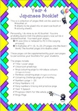 Japanese Year 4 Booklet - Colours, Numbers 1-20, Speech &