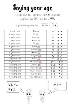 Japanese Year 5 Booklet - Colours, Numbers, Speech, Clock times & Progress Chart