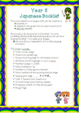 Japanese Year 5 Booklet - Colours, Numbers, Speech, Clock