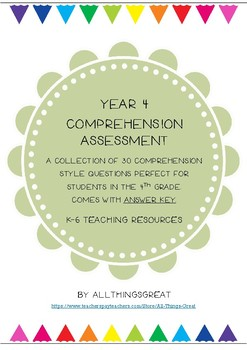 Year 4 Comprehension Assessment