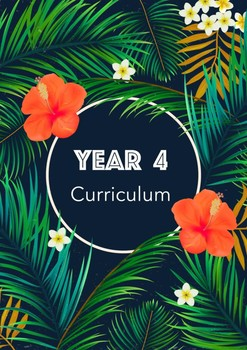 Year 4 Curriculum Book Cover Tropical Theme