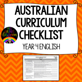 Year 4 English - Australian Curriculum Checklist