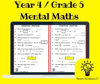 Year 4 / Grade 5 Mental Maths Quiz
