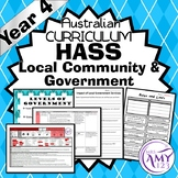 Australian Curriculum HASS Civics & Citizenship Year 4 Community & Government