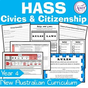 Australian Curriculum HASS Civics & Citizenship Year 4 Community & Government