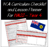 Year 4 HASS Western Australian Curriculum Checklist and Lesson Planner