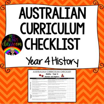 Year 4 History - Australian Curriculum Checklist