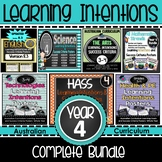 Year 4 Learning INTENTIONS & Success Criteria. All SUBJECTS Aus. Curric BUNDLE!
