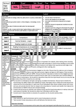 Year 4 Length Smart Notebook and Unit of Work Bundle 2