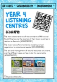 Year 4 Listening Centre QR Codes - Geography