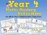 Year 4 Math Mastery Activities