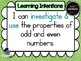 Year 4 Math – Number & Algebra Learning INTENTIONS & Succe