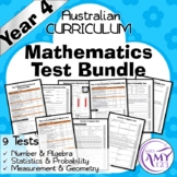 Year 4 Mathematics Test Bundle- Australian Curriculum
