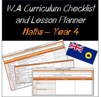 Year 4 Mathematics Western Australian Curriculum Checklist and Lesson Planner