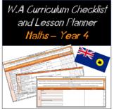 Year 4 Mathematics Western Australian Curriculum Checklist