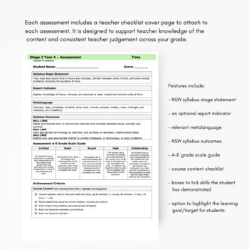 Year 4 Maths Assessments NSW Syllabus Whole Year