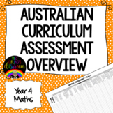 Year 4 Maths Australian Curriculum Assessment Overview