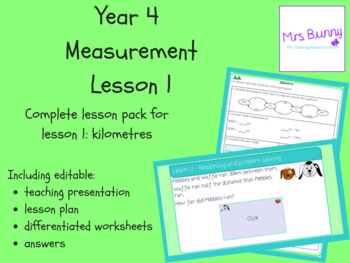 Year 4 Measurement - Length and Perimeter: Kilometres