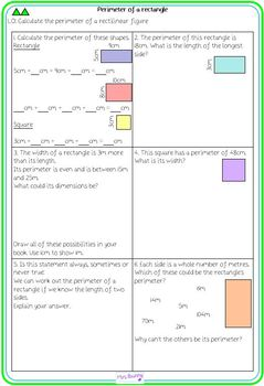 Year 4 Measurement - Length and Perimeter Unit Pack