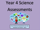 Year 4 Science Assessments and Tracking