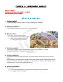 Year 4 Science Introducing Habitats