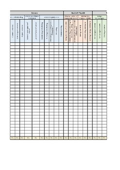 Year 4 Western Australia (SCSA) Achievement Standards Excel Database