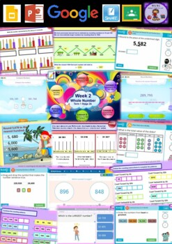 Year 4 Whole Number Smart Notebook and Unit of Work Bundle 2
