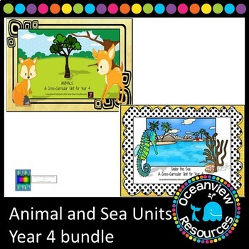 Year 4 Sea and Animal Themed Cross Curricular Bundle