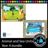 Ocean -sea and Animal units for Grade 4 (bundle)